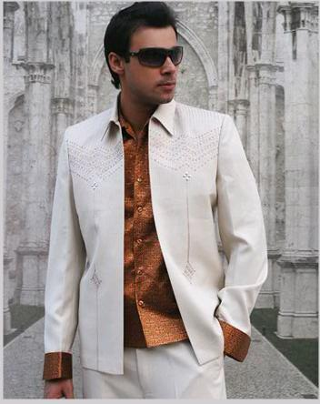 Mens Embroidery Suit