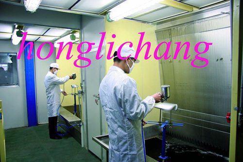 Conveyorised Acrylic Spray Painting Paint Shop For Plastic Parts In Longgang District Shenzhen