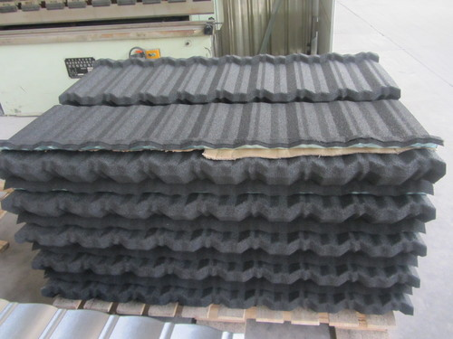 Color Stone Coated Metal Roofing Tiles In LANSHAN DIST.