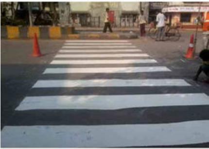 Painting On Speed Breaker In Turbhe Navi Mumbai Saideep