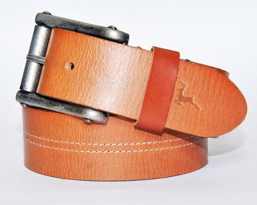 Casual Leather Belt with Stitching in  Rabale