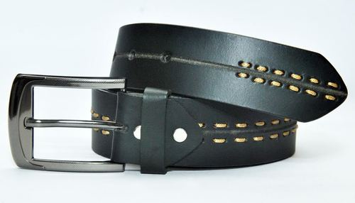 Casual Leather Belt with Thonging in  Rabale