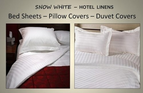 Snow White Hotel Linen Bed Sheets