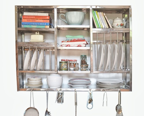 Stainless steel kitchen storage rack in indl area ph 2 for Egouttoir mural