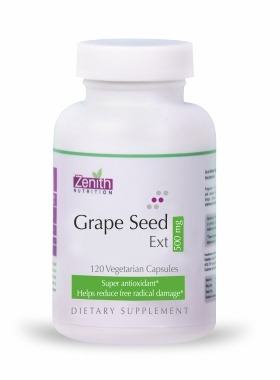 Zenith Nutritions Grape Seed Extract 500mg - 120 Capsules