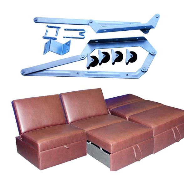 Wood slats 3 fold sofa bed mechanism in jiaxing zhejiang for Sofa bed mechanism
