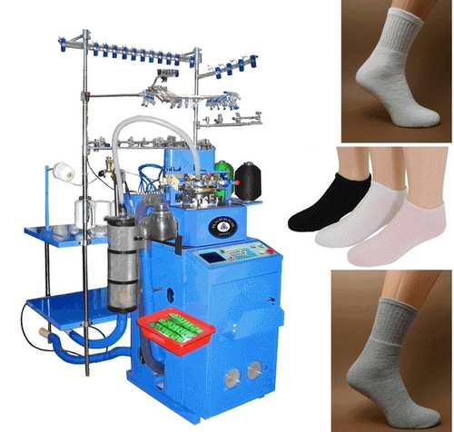 QJ2009 6F Fully Computerized Sock Knitting Machine