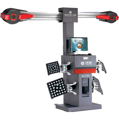 3D Wheel Alignment With Manual Camera Beam