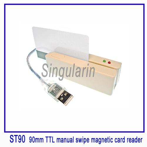 90mm USB Interface Manual Swipe Magnetic Card Reader
