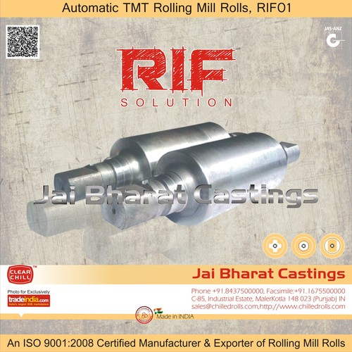 Chilled Rolls For Automatic Tmt Rolling Mills