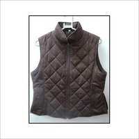 Suede Quilted Gilet