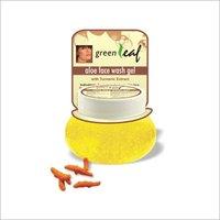 Green Leaf Aloe Face Wash Gel -Turmeric Extract