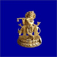 Standing Krishna Brass Statue