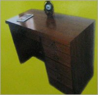 Study Table With Natural Teak Wood Finish