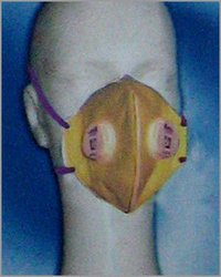 SAFETY MASK WITH EXHALATION VALVE