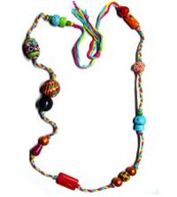 Printed Beads Necklace