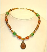 Brown Pendant Necklace