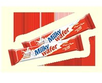 Milky Wafer Coated With Milky Chocolate Biscuits
