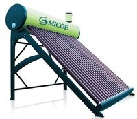 Solar Water Heater With Feeding Tank