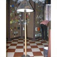 Beach Wood Pedestal Lamp