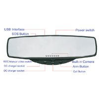 3G+GPS Rearview Mirror