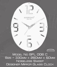 Designer Oval Mirror Clock