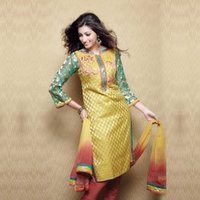 Cotton Embroidered Suits With Dupattas