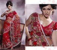 Designer Red Saree