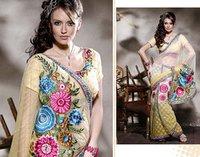 Heavy Embroidery Designer Saree