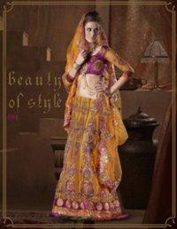 Designer Bridal Lehnga Saree
