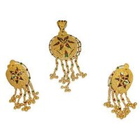 Gold Lockets With Enamel Design