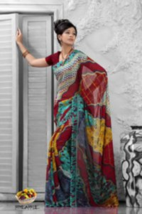 Fruits Collection - Pineapple Sarees