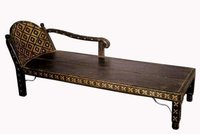 Antique Cart Furniture Couch Daybed With Iron And Brass Fitting Work