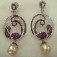 Peacock Dangling Earrings