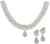 Amercian Diamond Necklace Set