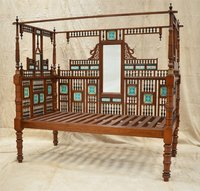 South Indian Tiled 3-Sided Bed