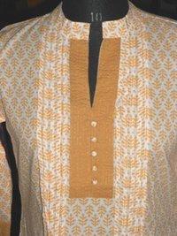 Cotton Hand Block Printed Kurti