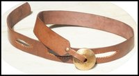 Handmade Leather Belt With Brass Buckle
