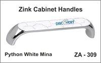 White Mina Cabinet Door Handles