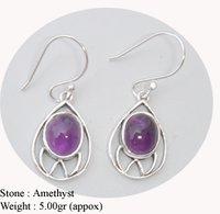 Amethyst Stone Earring