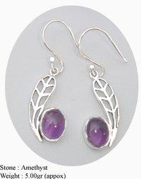 Amethyst Stone Designer Earring