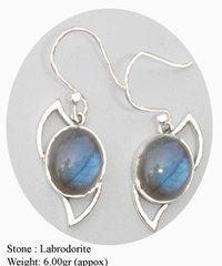 Labrodorite Stone Earring