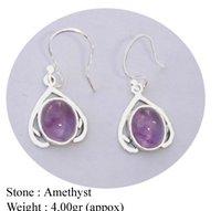 Fancy Amethyst Stone Earring