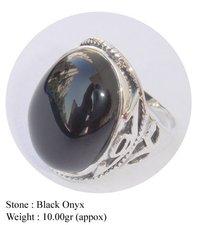 Black Onyx Fashion Design Ring