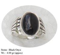 Black Onyx Finger Ring