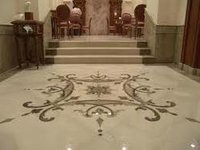 Marble Inlay Flooring Tile
