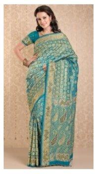 Swarnika Embroidery Saree