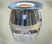 Abstract Textured Steel Diamond Tandoor