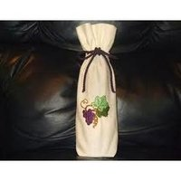 Embroidered Wine Case