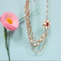 Gold Pearl Necklace For Women